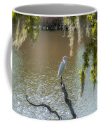 White Heron In Magnolia Cemetery Coffee Mug