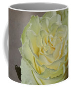 White Rose With Old Paper Texture Coffee Mug