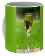 White Wine On Patio Ledge Coffee Mug