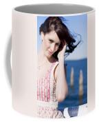 Windy Hair Woman Coffee Mug