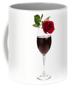Wine With Red Rose Coffee Mug
