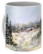 Winter At The Farm Coffee Mug