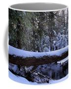 Winter Forest Stream Coffee Mug