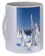 Winter View Of Snow Covered Trees Coffee Mug