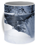 Winter Waterfall Snow Coffee Mug