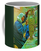Woman Artisan At Mosaic School In Madaba In Jordan  Coffee Mug