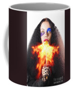 Woman Breathing Fire From Mouth Coffee Mug