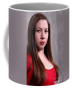 Woman Red Dress Coffee Mug