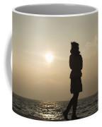 Woman Walking On The Lake Front Coffee Mug