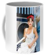 Woman Washing Clothes Coffee Mug