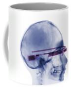 Woman Wearing Google Glass X-ray Coffee Mug