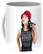 Woman With An Old Camera Coffee Mug
