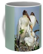 Wood Stork With Nestlings Coffee Mug