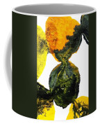 Yellow And Gray Interactions 8 Coffee Mug by Amy Vangsgard