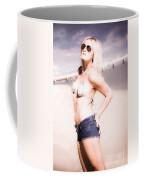 Young Attractive Travel Woman At Beach Coffee Mug