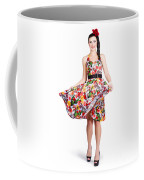 Young Beautiful Dancer Posing On White Background Coffee Mug