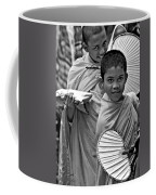 Young Monks Bw Coffee Mug