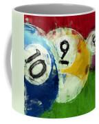 10 9 8 Billiards Abstract Coffee Mug