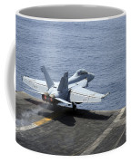 An Fa-18f Super Hornet Launches Coffee Mug by Stocktrek Images