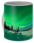 Intense Display Of Northern Lights Aurora Borealis Coffee Mug