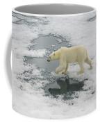 Polar Bear Crossing Ice Floe Coffee Mug