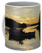 Port Clyde Maine Fishing Boats At Sunset Coffee Mug