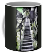 Staircase Leading To A Higher Level In Siloso Hotel In Sentosa Coffee Mug