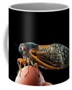 A Detailed View Of A Brood II Cicada Coffee Mug