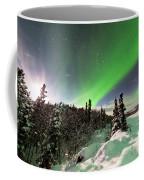 Intense Display Of Northern Lights Aurora Borealis Coffee Mug