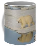 Polar Bear Walking On Ice Coffee Mug