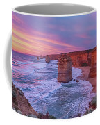 12 Apostles At Sunset Pano Coffee Mug