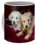 Festive Puppies Coffee Mug by Angel  Tarantella