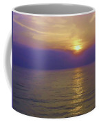 View Of Sunset Through Clouds Coffee Mug