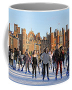 Ice Skating At Hampton Court Palace Ice Rink England Uk Coffee Mug