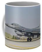 Turkish Air Force F-16 During Exercise Coffee Mug