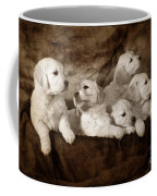 Vintage Festive Puppies Coffee Mug