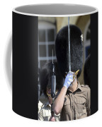 1st Battalion Welsh Guards On The Drill Coffee Mug by Andrew Chittock