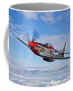 A P-51d Mustang In Flight Coffee Mug