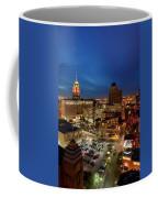 High Angle View Of Buildings Lit Coffee Mug