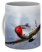 A P-51d Mustang In Flight Coffee Mug