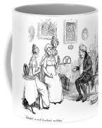 Scene From Pride And Prejudice By Jane Austen Coffee Mug by Hugh Thomson