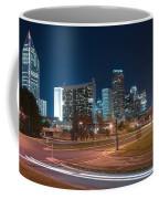 Skyline Of Uptown Charlotte North Carolina At Night. Coffee Mug