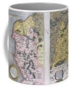 1579 Ortelius Map Of Calais And Vermandois France And Vicinity Coffee Mug