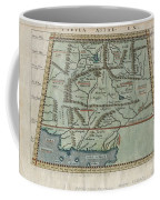 1597 Ptolemy  Magini  Keschedt Map Of Pakistan Iran And Afghanistan Coffee Mug by Paul Fearn