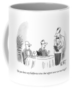 Do You Have Any California Wines That Support Coffee Mug