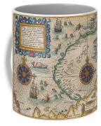 1601 De Bry And De Veer Map Of Nova Zembla And The Northeast Passage Coffee Mug