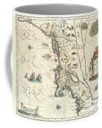 1635 Blaeu Map Of New England And New York Coffee Mug by Paul Fearn
