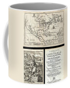 1688 Hennepin First Book And Map Of North America Coffee Mug