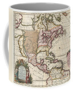 1698 Louis Hennepin Map Of North America Coffee Mug by Paul Fearn