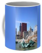 Chicago Skyline And Buckingham Fountain Coffee Mug